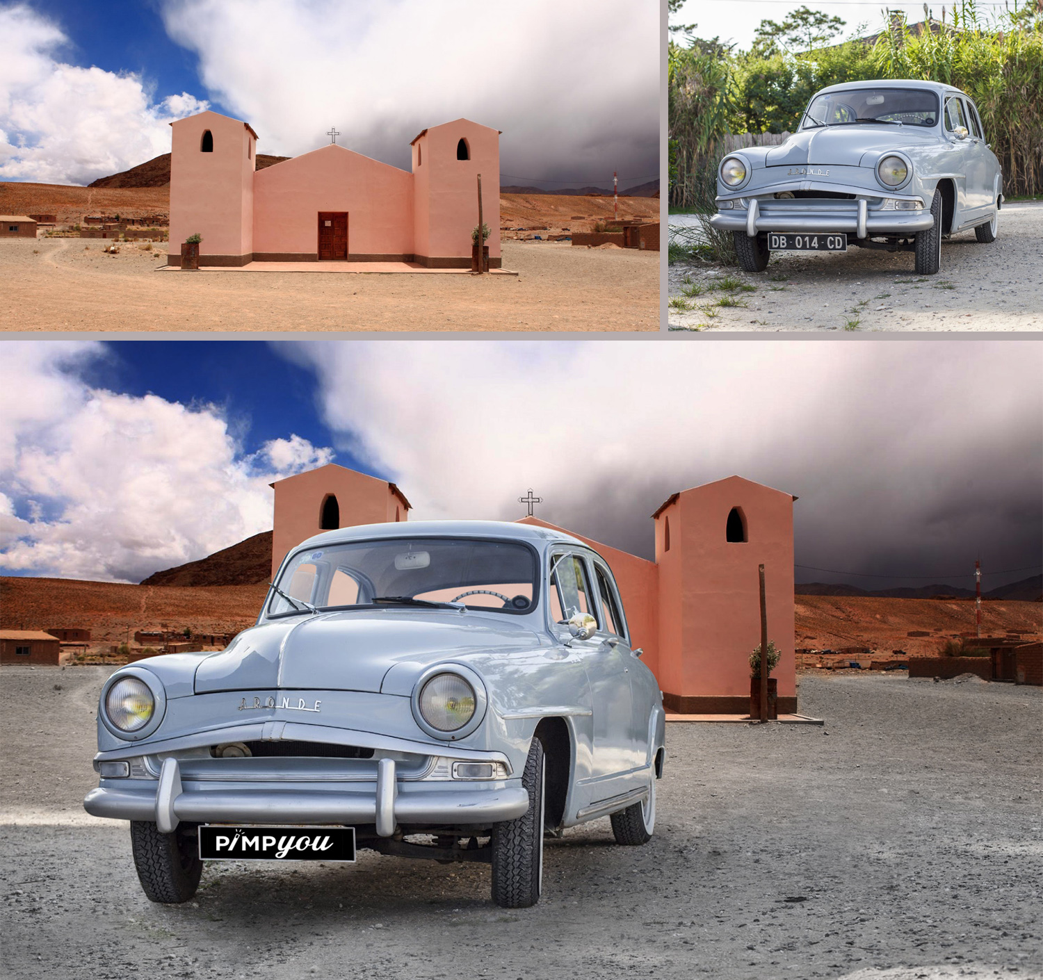 photoclipping cars and photomontage car